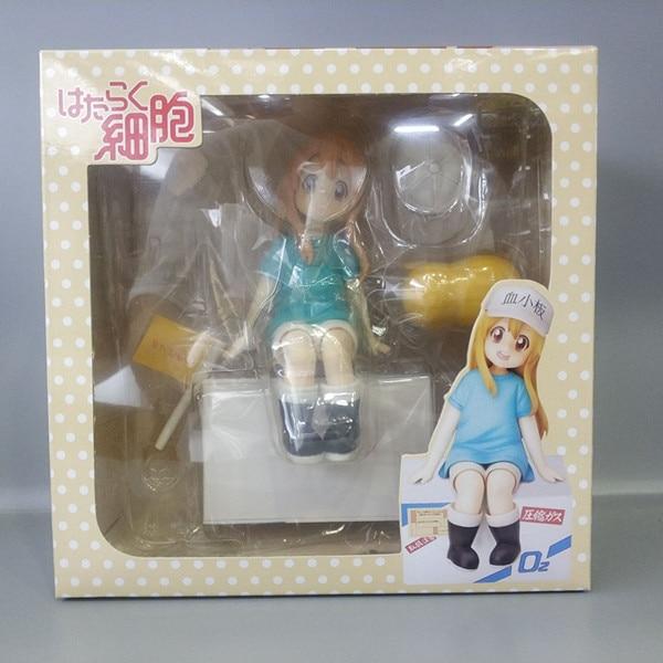 14cm Anime Nendoroid Hataraku Saibou Platelet Kesshoban Cells At Work PVC Action Figure Collectible Model Toy Gift 1