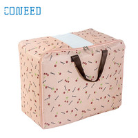 Foldable Storage Bags Clothing Wardrobe Large Vintage Floral Reusable Bags Zipped U70804