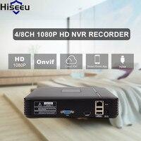 Hiseeu H 264 VGA HDMI 8CH CCTV NVR 4 Channel Mini NVR For IP Camera Digital