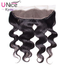"UNice Hair 8A Kysiss Series Brazilian Body Wave Lace Frontal Free Part Ear to Ear Virgin Human Hair Lace Closure Size 13""x4""(China)"