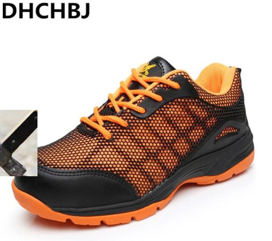 2018 baskets chaussures de sécurité respirant mode fixe 3D maille travail chaussures Anti-collision outillage sécurité bottes basses hommes