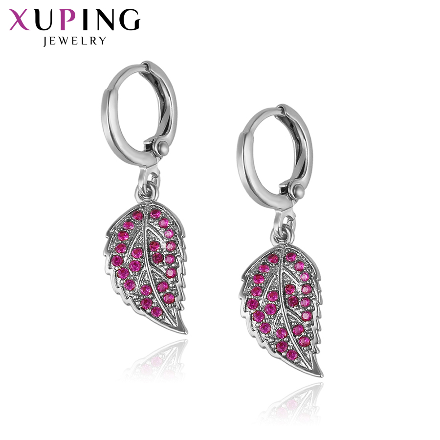 Xuping Fashion Elegant Earrings Synthetic CZ Plated Jewelry For Women Stud Beautiful Thanksgiving Christmas Gift S53,1-93131