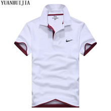 1c52158a Cotton top with high quality slim brand clothing men's solid color casual  Polo shirt