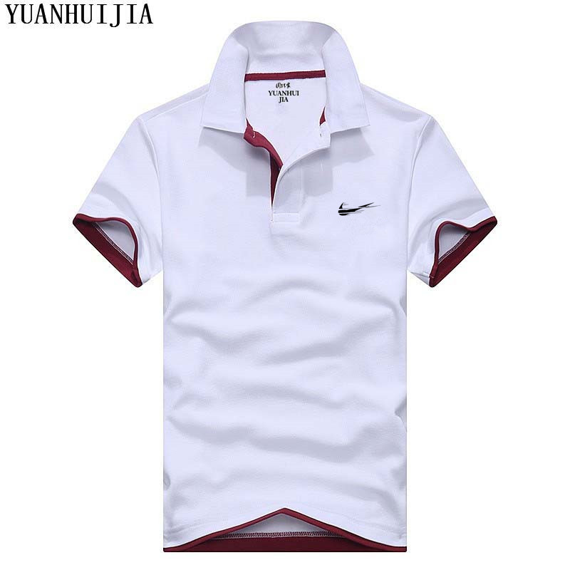 Cotton top with high quality slim   Polo   brand clothing men's fashion casual men's solid color casual   Polo   shirt