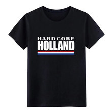 Hardcore holland t-shirt mannen Custom katoen Crew Neck Outfit Grafische Casual Lente Herfst Vintage tshirt(China)