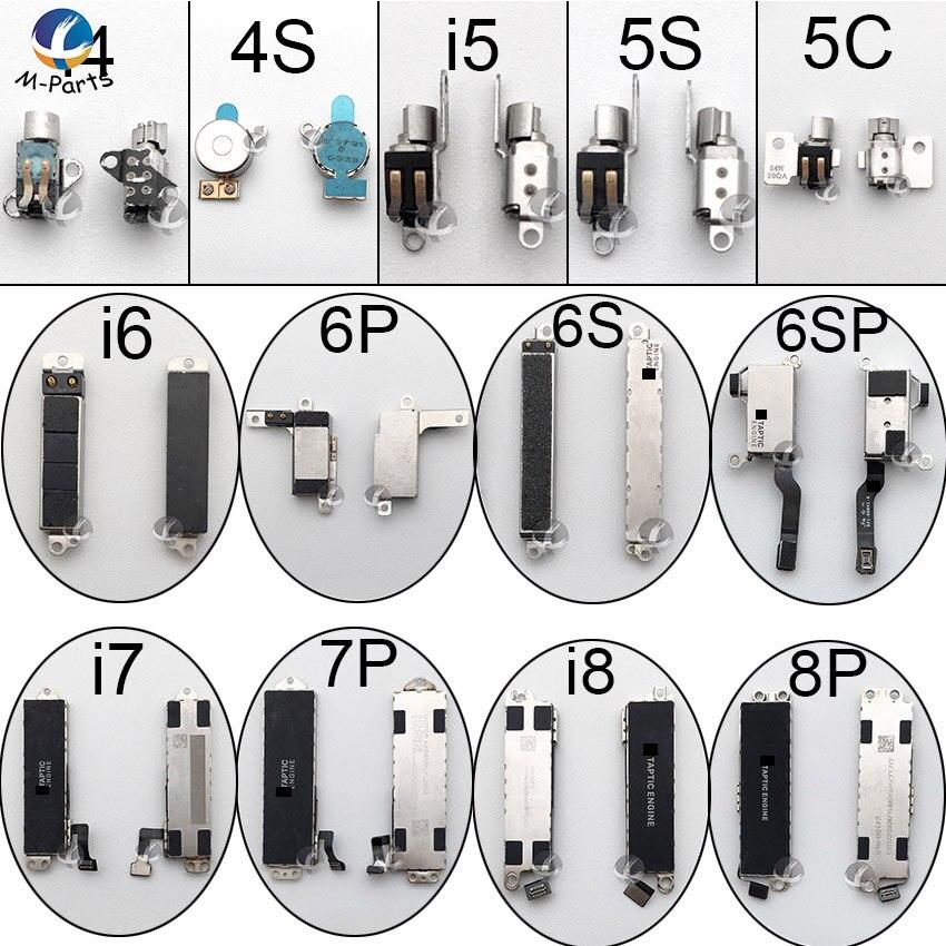 Original Vibrator Flex Cable For IPhone 4 4S 5 5C 5S SE 6 6S 7 8 Plus X Vibrate Vibration Motor Parts Replacement