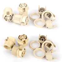 10pcs E14 E12 Lamp Holder Plastic Lighting Socket Connector Half Screw High Quality For LED And