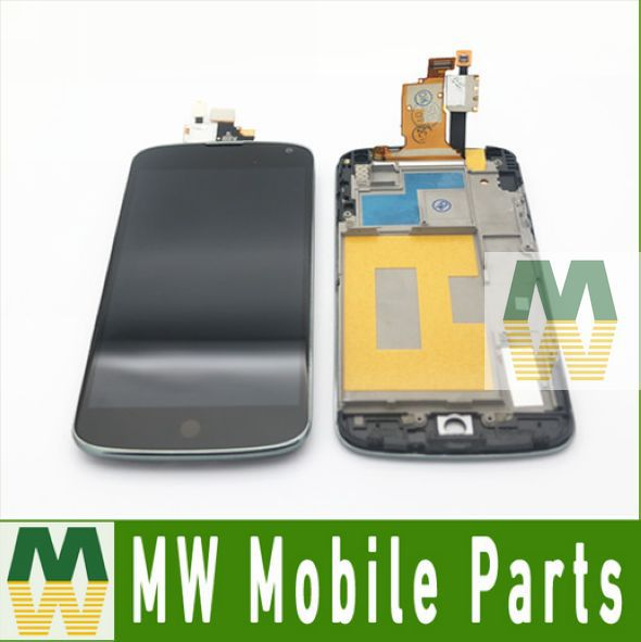 ФОТО 46.5USD/PC LCD Display +Touch Screen +Frame Full Assembly Digitizer  For LG Nexus 4 E960 10PCS /Lot Free DHL EMS