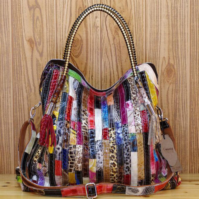 2017Newgift for mom Women Leather Handbags Shoulder Crossbody Bags Genuine  Leather Bag Bolsas ladies tote bag colorful snake bag c3760603c6
