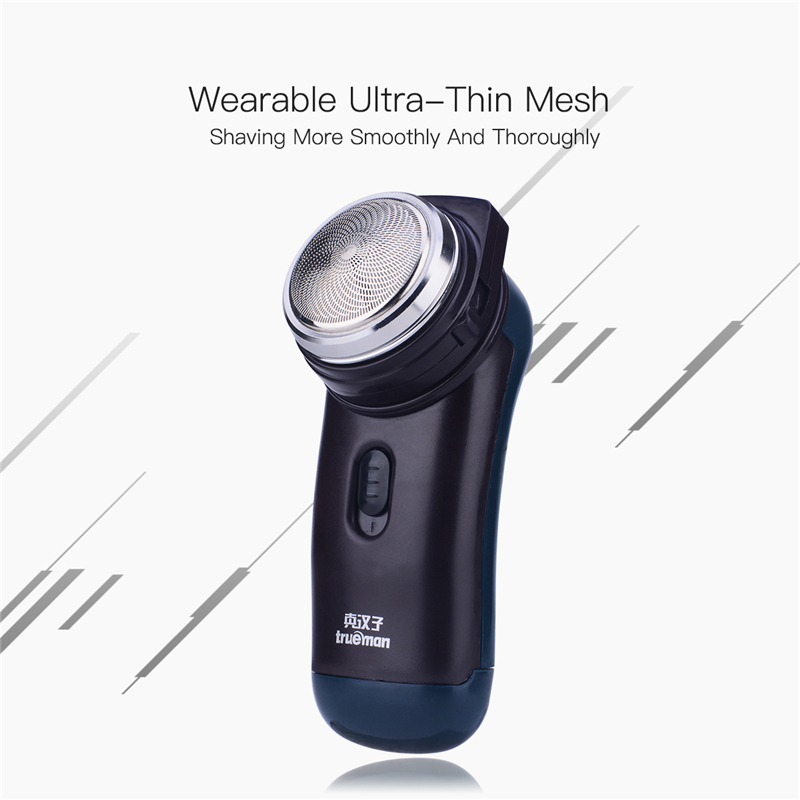 Mini Razor Electric Shaver barbeador Beard Trimmer Shaving Machine Stainless Steel Blade Razor Men Trimmer navalha de barbear low noise dry wet electric shaver three blade independent floating head hair shaving machine powerful beard cutter razor trimmer