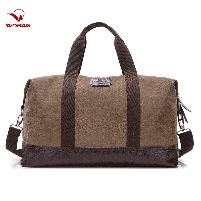 Handbag Duffel-Bag Canvas Weekend Large-Capacity Fitness Outdoor Men Women New-Fashion