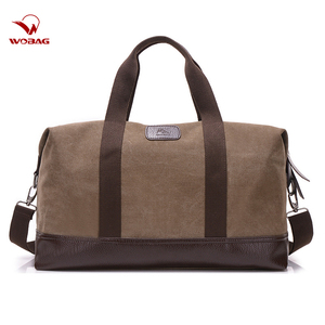 Image 1 - Vintage Canvas Bags for Men Travel Hand Luggage Bags Weekend Overnight Bags Big Outdoor Storage Bag Large Capacity Duffle Bag