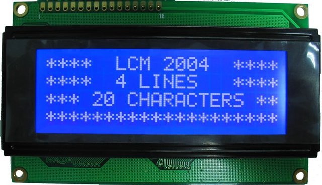 character LCD modules 20 char. x 4 lines with LED backlight Y-G or Blue-white STN