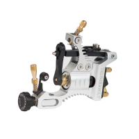 Retail 1 Piece Silver Newest Develop High Quality Unmatched Thunderbolt Force Rotary Tattoo Machine Aluminum Tattoo