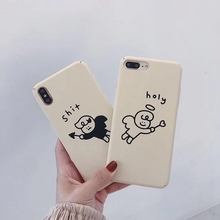 Phone pc case for iphone X 10 XR Xs max cover 7 8 6 6s plus sheath matte Little angel funds Mobile phone coque