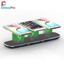 CinkeyPro QI Kablosuz Şarj İstasyonu 3 * Cep Telefonu Şarj & 2-Ports USB masa Dock iPhone 8 için 10 X Samsung S6 S7 S8