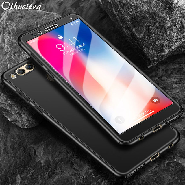 online retailer ae5d4 4e644 US $2.45 27% OFF|For Huawei Honor 7X Case Cover 360 Degree Protection Phone  Housing With Tempered Glass Flim Case For Huawei Honor 7X Accessories-in ...