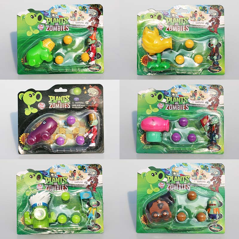 6Styles PVZ Plants VS Zombies Figures Toys Agriculture Gun Zombies PVC Figure Toy Model Dolls Great Gift 40pcs set plants vs zombies toys anime pvz pvc action figure 3 8cm collection model figma kids toy for boys girls birthday gifts