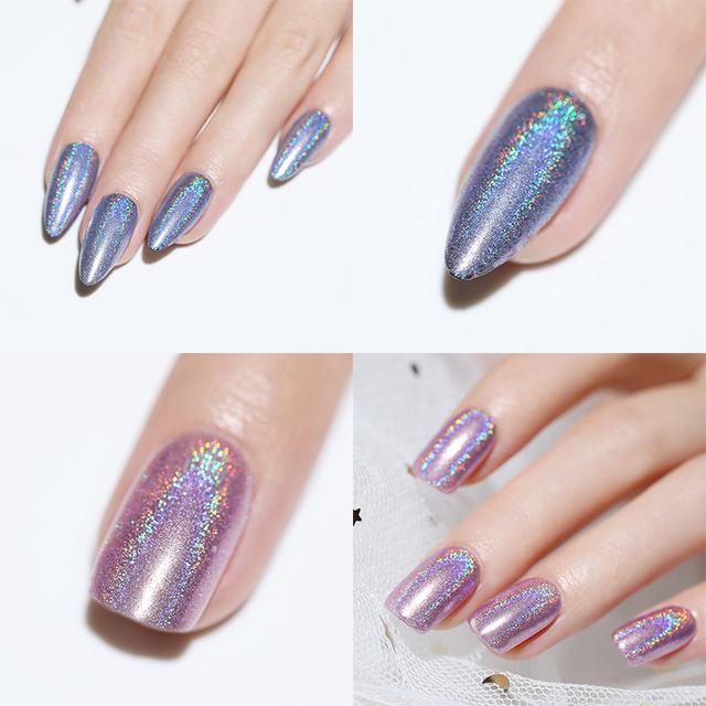 1 Box Holographic Nail Glitter Laser Powder