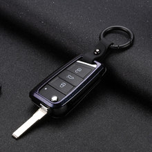 цена на 2019 Zinc Alloy Classic Mature Car Key Case Cover For volkswagen Golf 7 6 5 for vw golf mk7 Auto Key Protection Shell Keychain