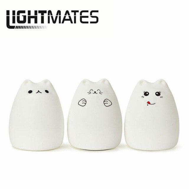 LIGHTMATES Premium 7 Farben Cat USB LED Kinder Nachtlicht Tier ...
