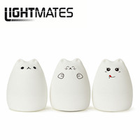 The New 7 Color Animal Silicone Lamp Touch LED Lamp Cartoon Cute Cat Atmosphere Light Night