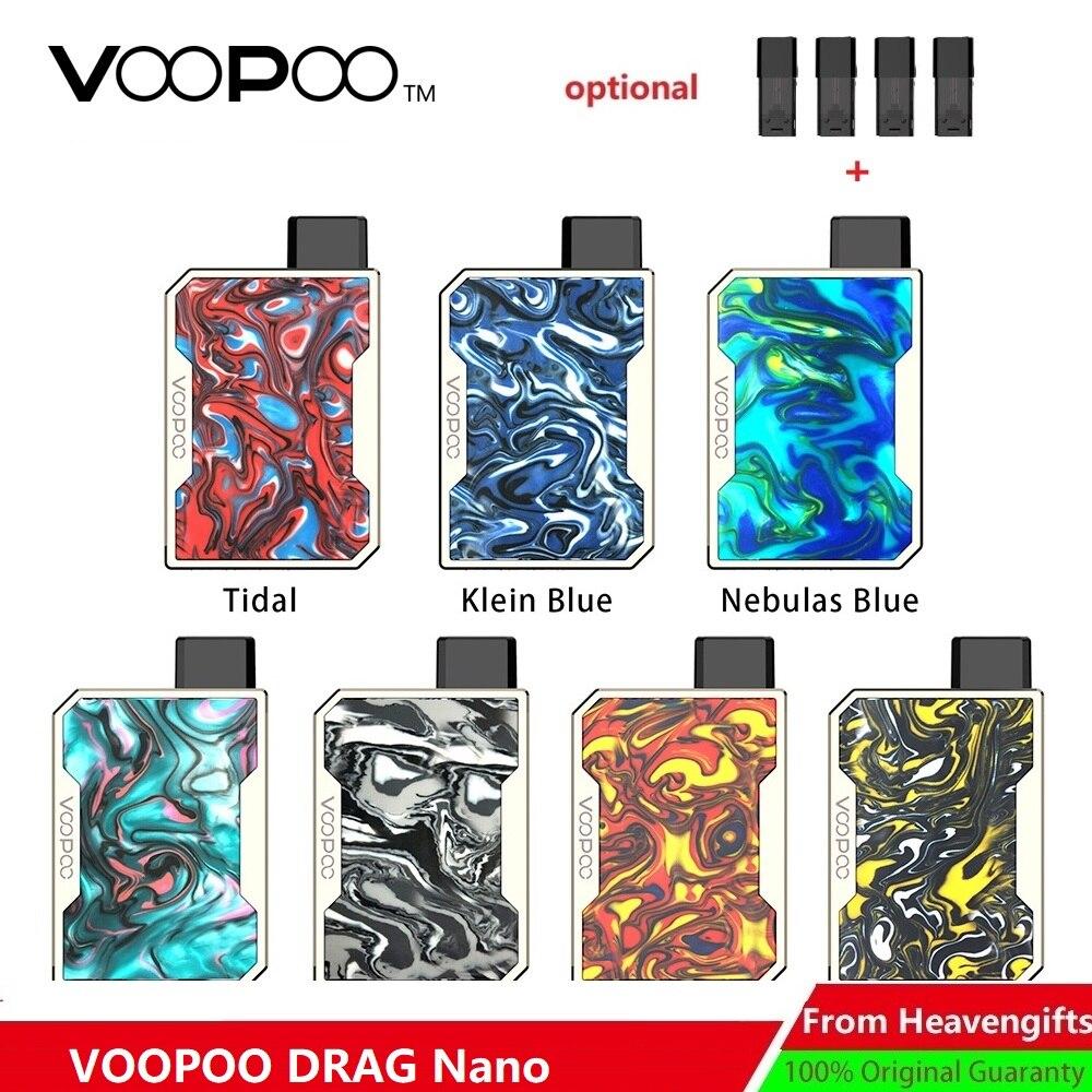 Version mise à jour! VOOPOO glisser Nano Pod Kit W/750 mAh batterie & 1.0ml glisser Nano Pod cartouche e-cig Vape Kit VS glisser Mini/glisser 2