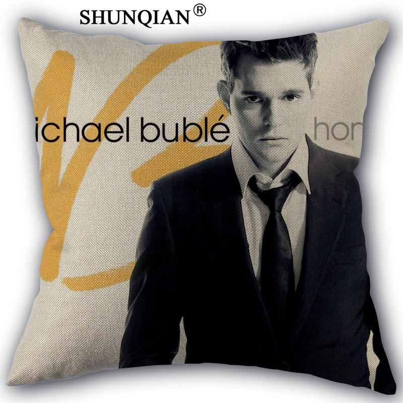 michael buble Pillowcase Cotton Linen Square Zippered Pillow Cover Unique Design Customize Your Picture 45x45cm one side