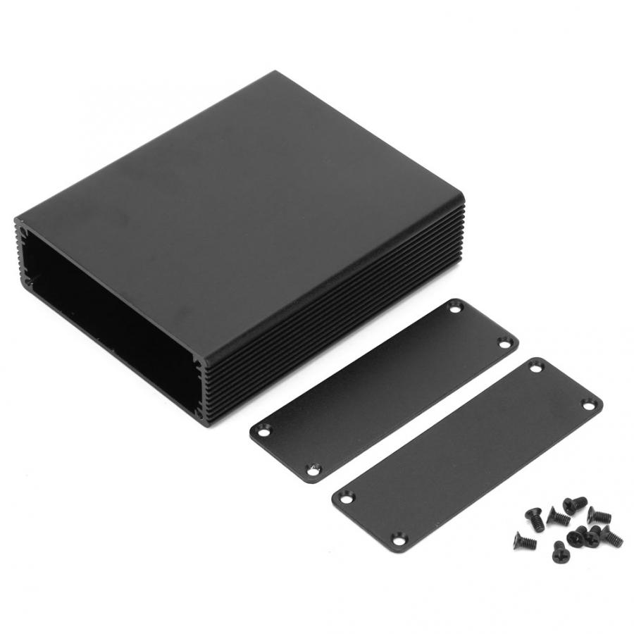 black-extruded-aluminum-enclosures-pcb-instrument-electronic-project-case-diy-housing-27x82x100mm