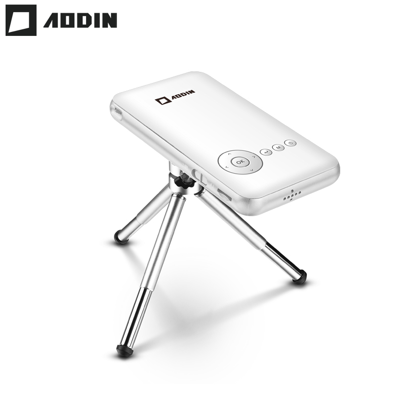 AODIN 32G 1080P HD Mini Projector DLP Smart Pico Portable Projector Android LED Pocket Projector Video Wifi Home Theater HDMI In mini tv micro dlp wifi portable pocket led smartphone projector bluetooth pico hd video 1080p hdmi for ipad iphone 6 7 white ios