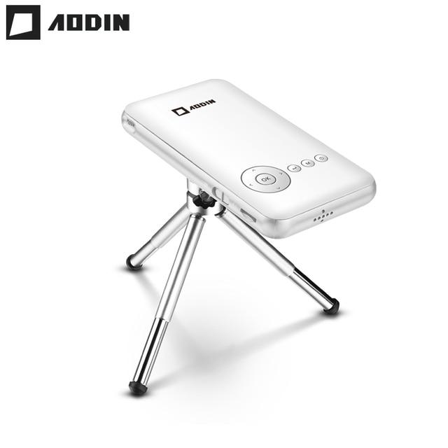 Flash Promo AODIN 32G Mini Projector DLP Smart Pico Portable Projector Android LED Pocket Projetor 1080P HD Video Wifi Home Theater HDMI In