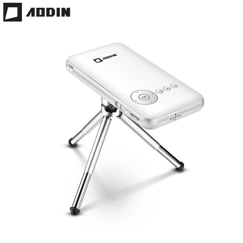 AODIN 32g Mini Proiettore DLP Intelligente Pico Proiettore Portatile Android Tascabile A LED Projetor 1080 p Video HD Wifi Per La Casa theater HDMI In