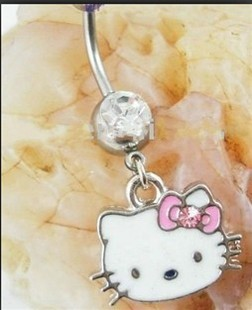 Belly Button Ring Wholesale Piercing Body Jewelry hello Kitty Belly Rings Animal jewelry