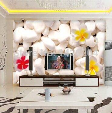 Gran pared 3D piedra murales de papel tapiz para sala de estar ...