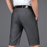 Summer Men Shorts Brand Clothing Thin Men's Suit Shorts Knee Length Business Men Casual Shorts Masculino Regular Trousers Man