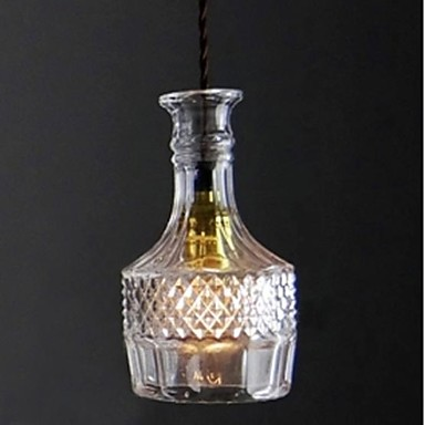 Crystal Glass Bottle Shape Hanging Lamp Modern LED Pendant Light For Home Lighting, Luminarie Lustres E Pendentes De Sala
