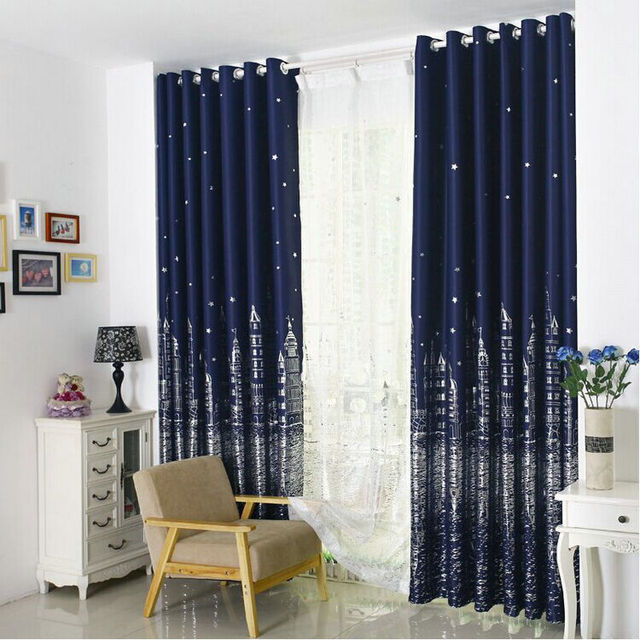 Inspirational Modern Printed Curtains For Nursery Room Customized Ready Made Blackout Sky Castle in Curtains from Home & Garden on Aliexpress Minimalist - Contemporary Nursery Curtains Photos