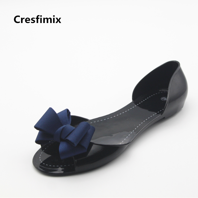 Cresfimix sandalias de mujer women cute black soft sandals lady fashion slip on summer sandal shoes female leisure sandals cresfimix women fashion