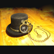 steam punk steampunk Top hat or Women vintage hair accessory decoration fedoras hat headwear Cosplay