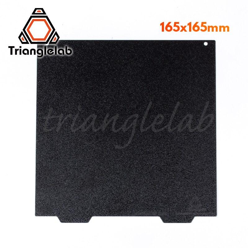 Trianglelab 165x165 Dupla face Placa PEI PEI Primavera Chapa de Aço Em Pó Revestido Texturizado Construir para Criatividade Ender etc.