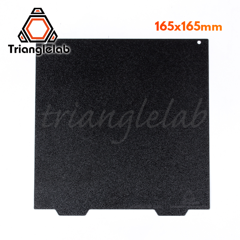 Trianglelab 165 X 165 Double Sided Textured PEI Spring Steel Sheet Powder Coated PEI Build Plate For Creality Ender Etc.