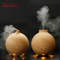 600ml Essential Oil Diffuser Aroma Diffuser Ultrasonic Humidifier Mist Maker Aromatherapy Air Purifier Woodgrain