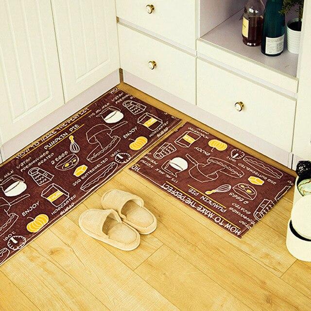 Коричневый Завтрак Пищу Дизайн Замши Коврик 3 Видов Различных Размер Anti-slip Коврики Кухня Ковер Ванная Комната