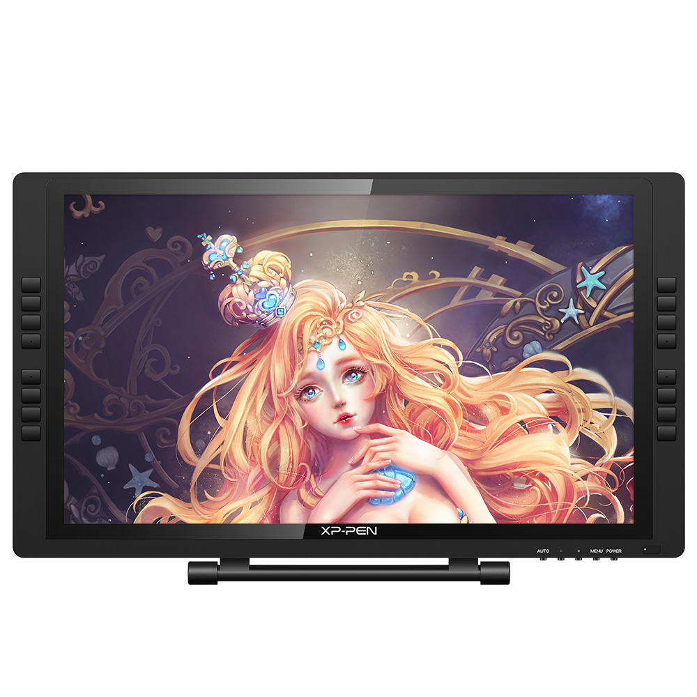 XP pluma artista 22 EPro pintura monitor tablet FHD IPS gráficos digitales pluma Monitor con las teclas y soporte ajustable