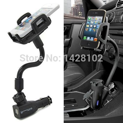 ce8d759b6d88d4 Car Cigarette Lighter Socket 2 Charging USB Port Charger Mount Holder For iPhone  4 5 6 plus galaxy S3 S4 S5 S6 S7 note 3 4 5 7