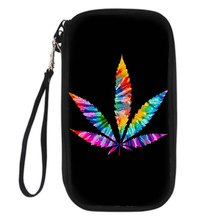 Noisydesigns Palm Tree Cannabis Leaves New Wallet Female Long Passport Wallets Women Zipper Purse Strap Fashion Card Holders