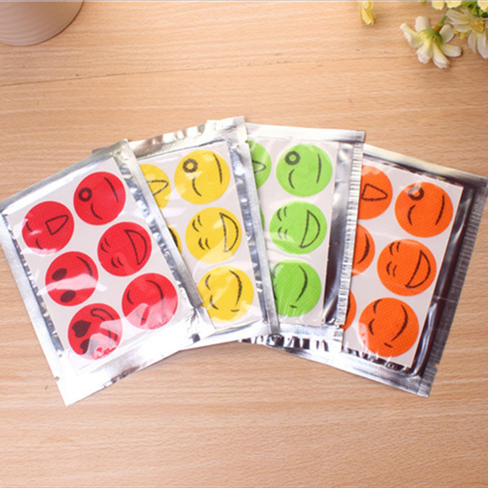 60pcs Patches Smiling Face Citronella Oil Mosquito Killer Drive Cartoon Repeller Sticker Repellent Stickers Summer Home Supply
