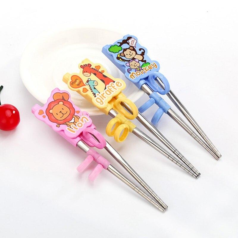 1 Pair Chopsticks For Sushi Baby Kids Cartoon Food Sticks Easy Use Fun Learning Training Helper Dishes Solid Feeding Utensils