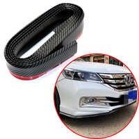 2.5M Wide Car Bumper Lip Rubber Car Bumper Protectors Exterior Mouldings Bumper Lip Strip black or carbon fiber color