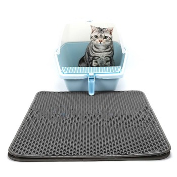 50*40cm Cats Litter Mat With Waterproof Layer EVA Cat Litters Box Scatter Control Trapper Pad E2S 1